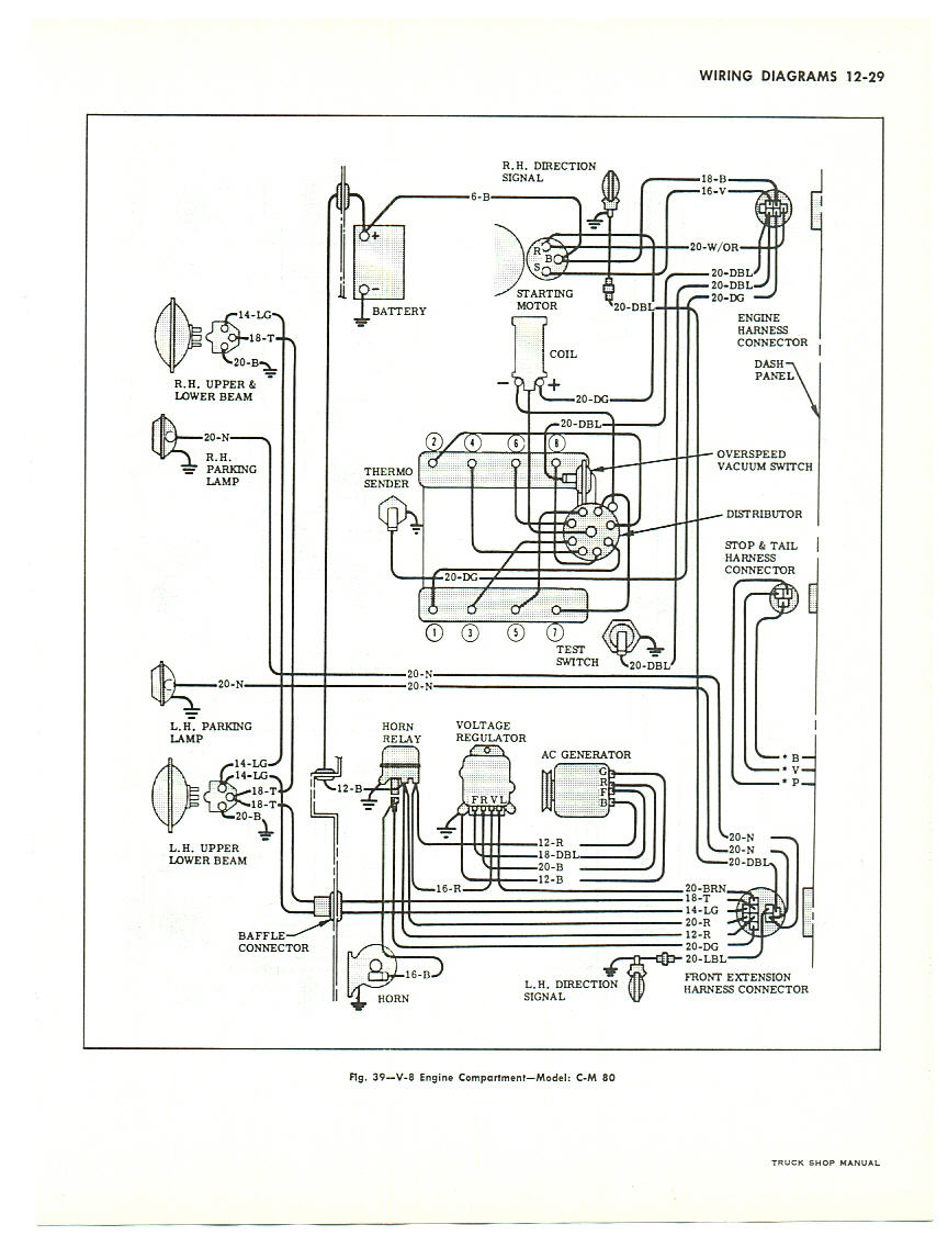Rays Chevy Restoration Site Gauges In A 66 Truck 1967 Impala Engine Wiring Diagram This Is For Large Trucks But Similar To Pick Up