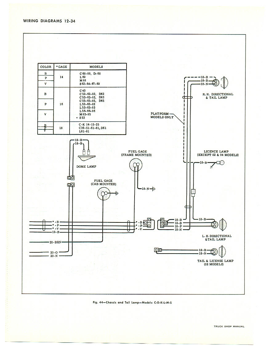 Rays Chevy Restoration Site Gauges In A 66 Truck 1965 Mustang Headlight Wiring Diagram Schematic 1963 Tail Light Rear Body