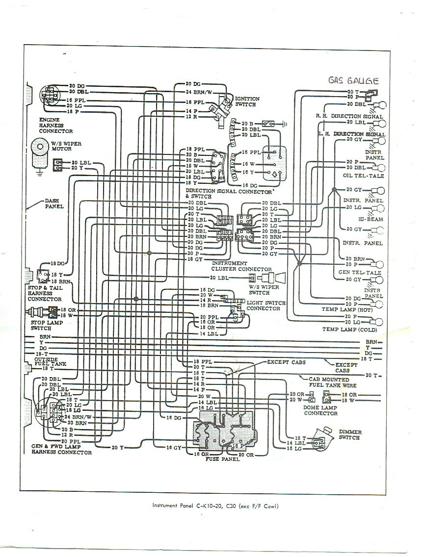 Rays Chevy Restoration Site Gauges In A 66 Truck Wiring Diagram For 1966 Dash Cab With Warning Lights