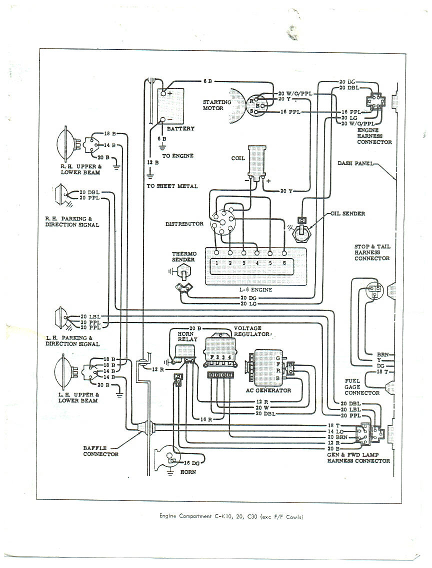 66 impala wiring diagram color  | 800 x 600