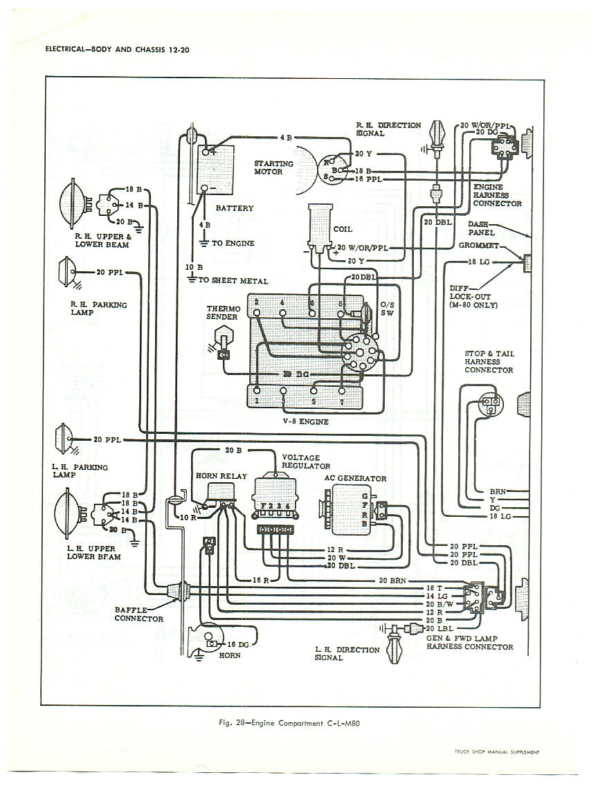 ... This diagram is for large trucks but is similar to pick-up truck wiring.