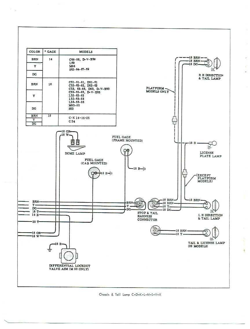 Chevrolet Battery Gauge Wiring Library S10 Steering Diagram 1966 Tail Light Rear Body
