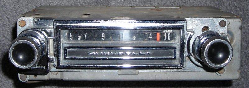 Ray's Chevy Restoration Site -- Chevrolet Radio Information