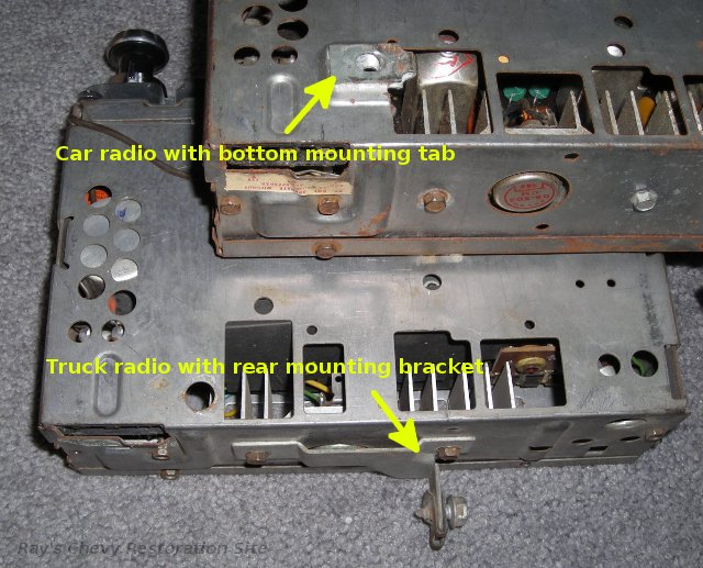 comparison of car vs  truck radio mounting differences
