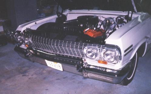 Another photo of the front with hood open