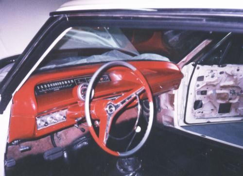 Photo of the interior with dash re-assembled