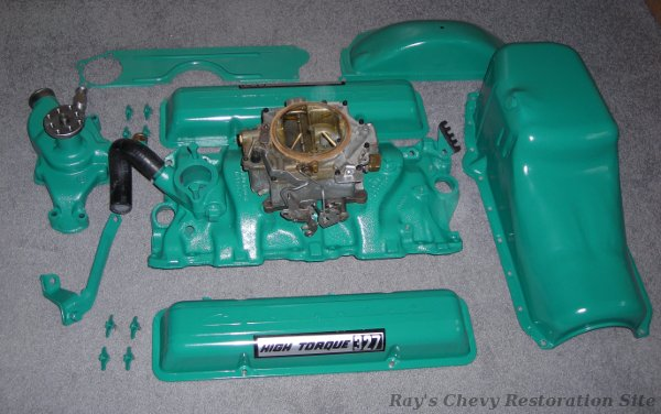 Photo Of Intake Valve Covers Oil Pan And Other Parts Painted For The