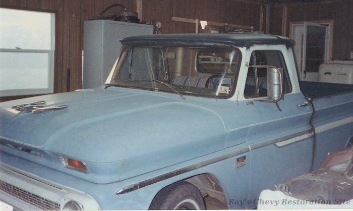 Before restoration photo of Dad's 66 C10 truck
