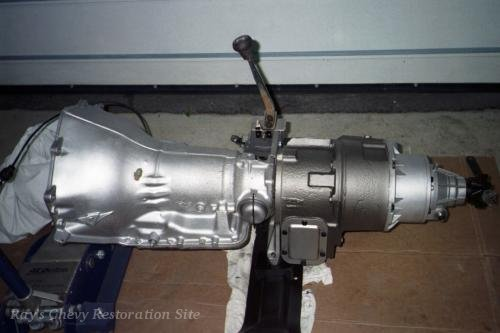 Photo of the transmission and transfer case