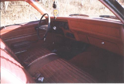 Before photo of the interior